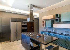 Private Villa - Modern Dyed Veneer Kitchen