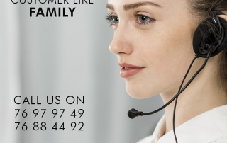 Customer service team available online and through the phone during Covid-19